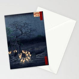 Utagawa Hiroshige New Year's Eve Foxfires at the Changing Tree Stationery Cards