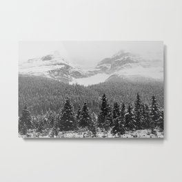 Landscape Photography Winter Wonderland | North Pole | Blizzard Forest Mountain Metal Print