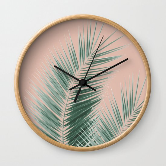 Soft Green Palm Leaves Dream - Cali Summer Vibes #1 #tropical #decor #art #society6 by anitabellajantzart