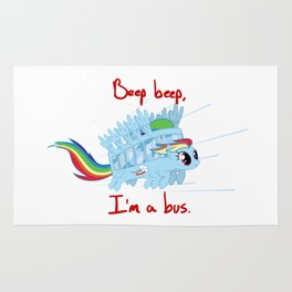rainbow unicorn bit ghibli Rug