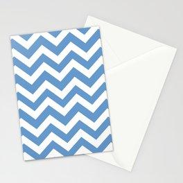 Livid - blue color - Zigzag Chevron Pattern Stationery Cards