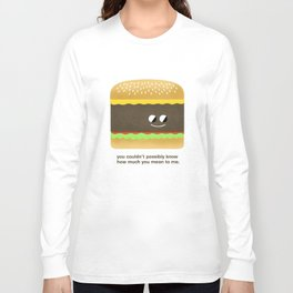 Cheesy Burger Long Sleeve T-shirt