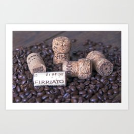 COFFEE & CORK Art Print