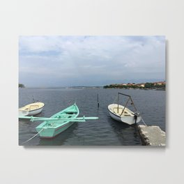 Boats In Dubrovnik - Croatia Metal Print