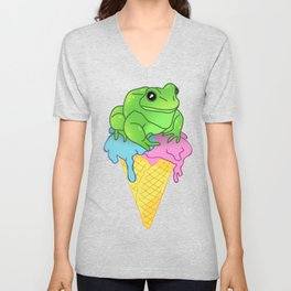Ice cream Frog Unisex V-Neck