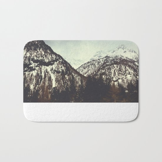 End of Winter in the mountains Bath Mat
