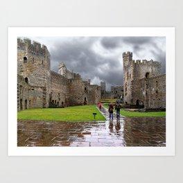 Storm Over The Castle  Art Print