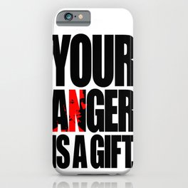 Anger iPhone Case