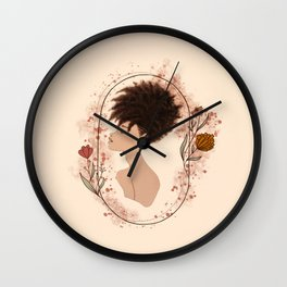 Fros & Flowers: Deja- Afro Girls  Wall Clock