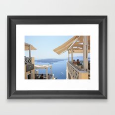 Idyllic afternoon in Fira Framed Art Print