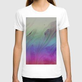 Fluid Nature - Rainbow Smoke - Acrylic Pour Art T-shirt