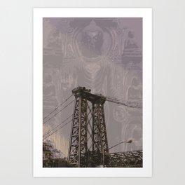 Buddha Bridge Art Print