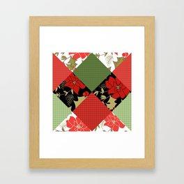 Patchwork, Christmas 1 Framed Art Print