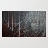 les miserables Area & Throw Rugs featuring Cossette ~Les Miserables by prestone85