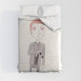 Heart-Eyes Crowley Comforters