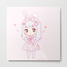 princess peachie Metal Print