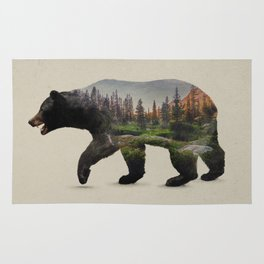 The North American Black Bear Rug