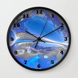 Cobalt Caverns Redux Wall Clock
