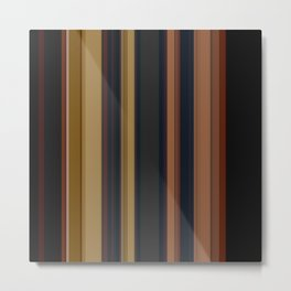 Black , striped , brown Metal Print