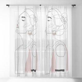 Blush Lip Sheer Curtain