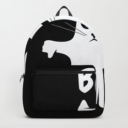 Funny Cat Boo Ghost Backpack