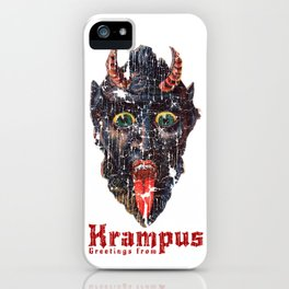 Gruss Vom Krampus Greetings From Christmas Demon iPhone Case
