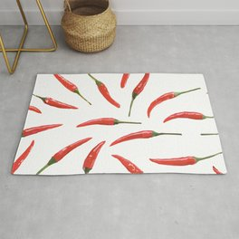 Red chili peppers. Rug