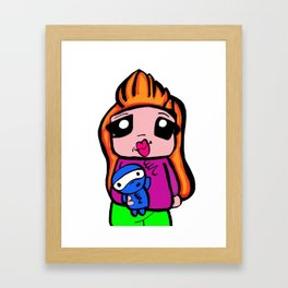 cute toon  Framed Art Print