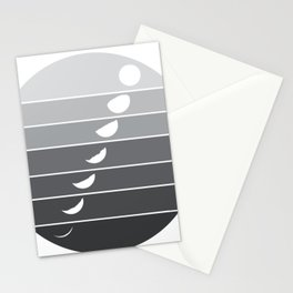 Moon Phases Gradient Stationery Cards