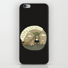 yodaling (grey colour option) iPhone Skin