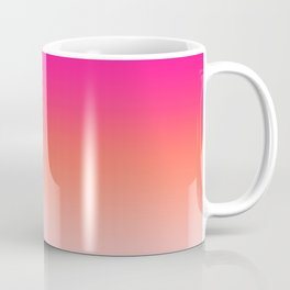 Gradient Ombre Living Coral Millennial Plastic Pink Pattern Peachy Orange Soft Trendy Cute Texture Coffee Mug