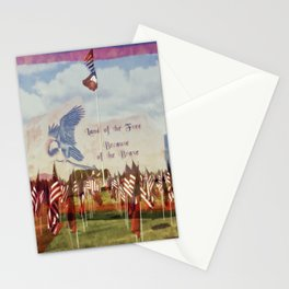 Land Of The Free Because Of The Brave Stationery Cards