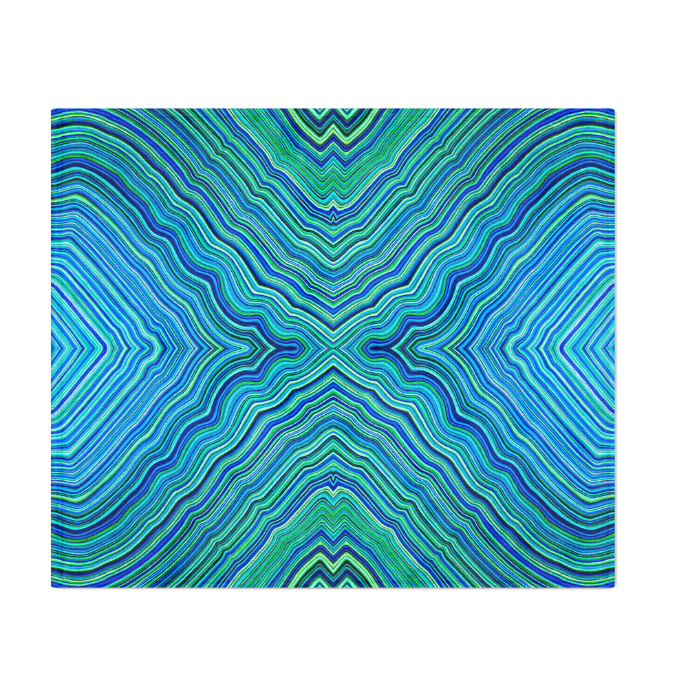 Abstract_9__IX__Blues_&_Greens_Throw_Blanket_by_kesaliskye