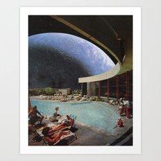 Space Resort Art Print