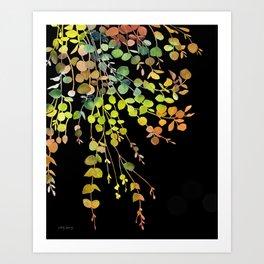 Eucalyptus in Autumn Color  Art Print