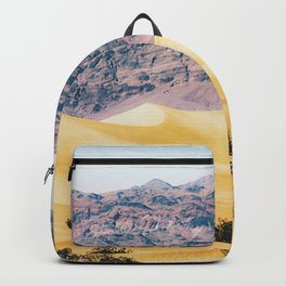 sand desert with mountain background at Death Valley national park, USA Backpack