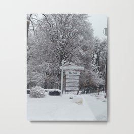 Maplewood - The Mill - Winter Metal Print