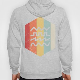 Retro 70s Synth Waveform Icon Hoody
