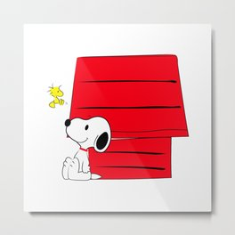 Snoopy & Woodstuck Metal Print