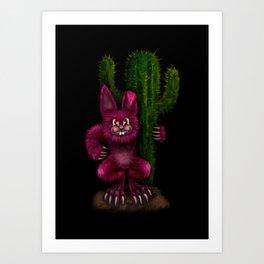 Desert Bunny Art Print