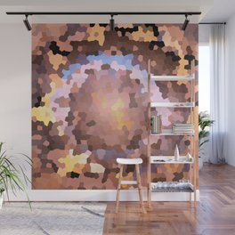 Mosaic background with colored beads Wall Mural
