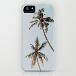 two palm trees iPhone Case