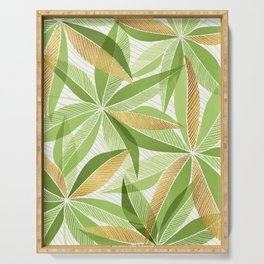 Modern Hawaiian Print III - with Metallic Accents Serving Tray