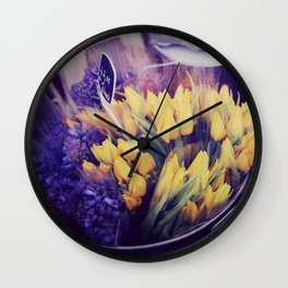 Yellow Tulips from Notting Hill Wall Clock