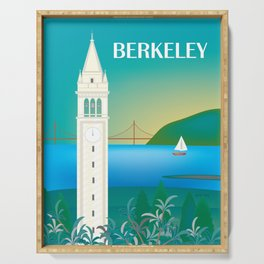 Berkeley, California - Skyline Illustration by Loose Petals Serving Tray
