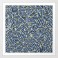 Ab Out Double R Navy Art Print