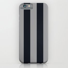 Vertical Stripes Black & Cool Gray iPhone Case