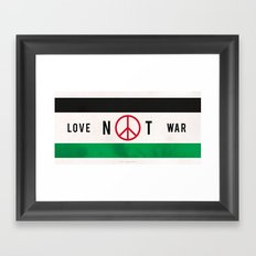 Love Not War 1 Framed Art Print