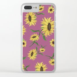 SUNFLOWERS 3 Clear iPhone Case