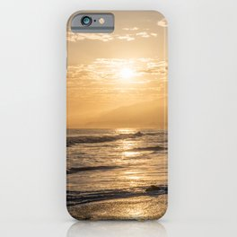 Scenic Zuma Beach vista at sunset iPhone Case
